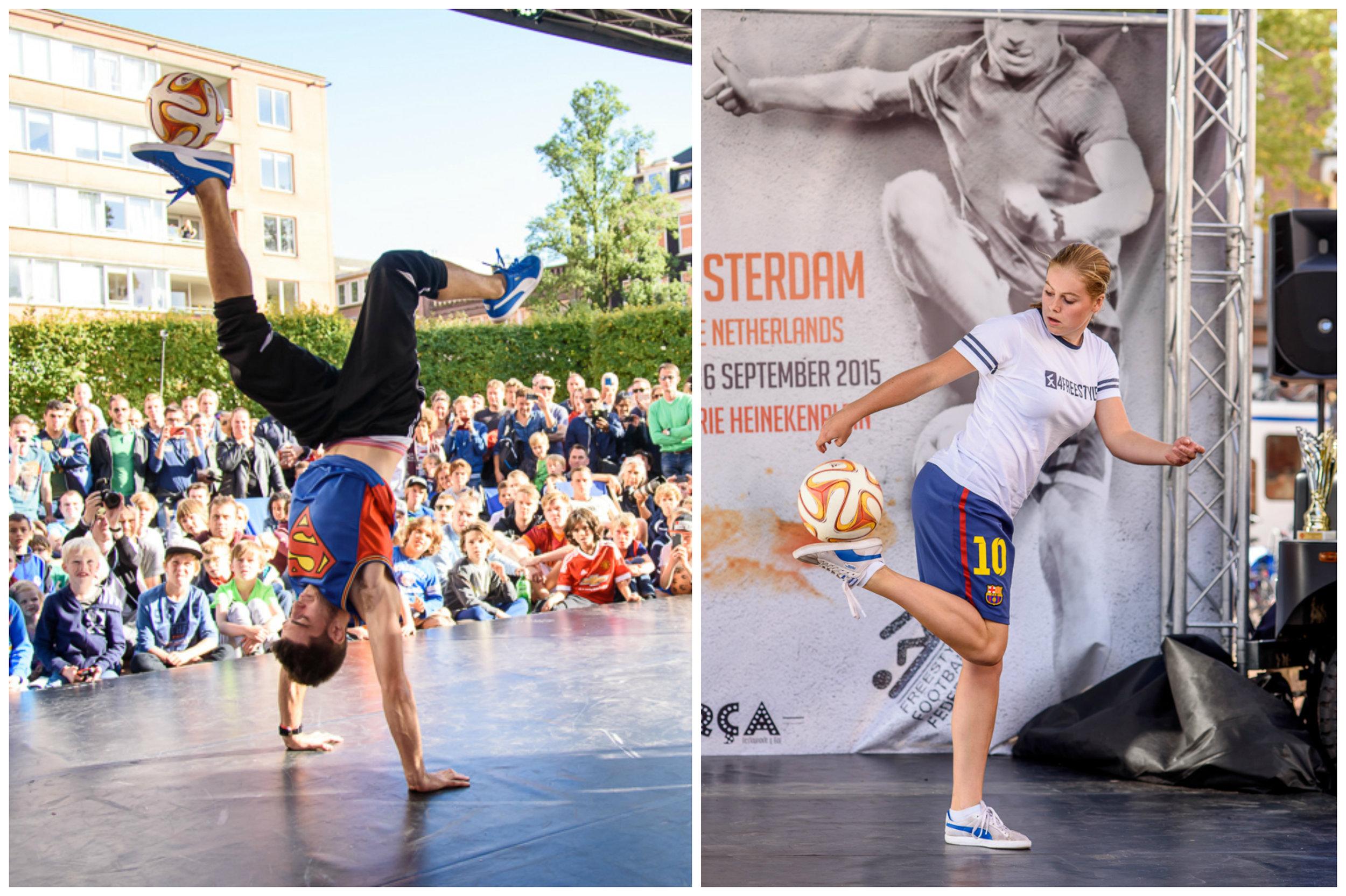 European Freestyle Football Championship - 2e plaats Maarten van Luit3e plaats dames Jasmijn Janssen