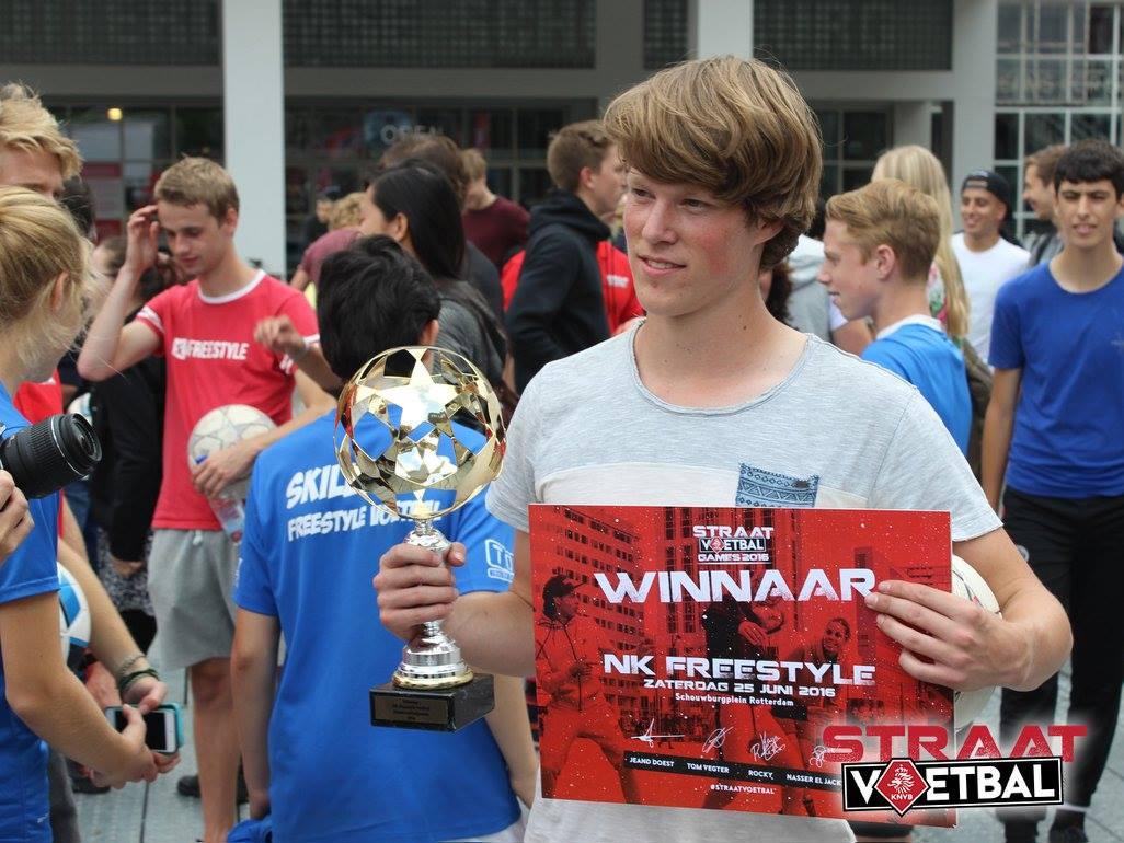 KNVB Straatvoetbal - Winnaar Jesse Marlet