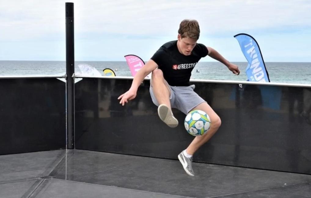 Atlantic Freestyle Football Open - Winnaar Jesse Marlet