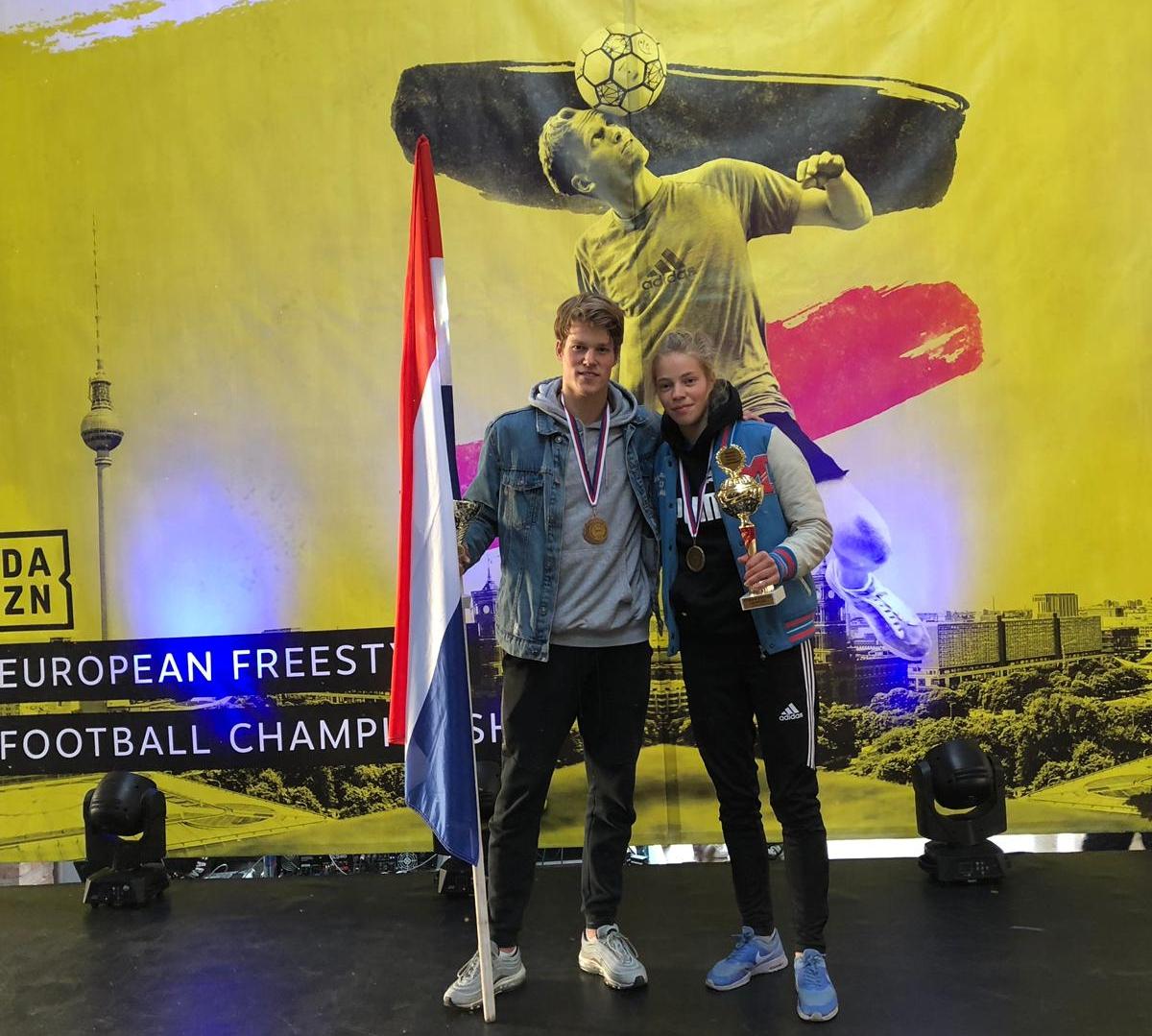 European Freestyle Football Championship - 1e plaats Laura Dekker3e plaats Jesse Marlet