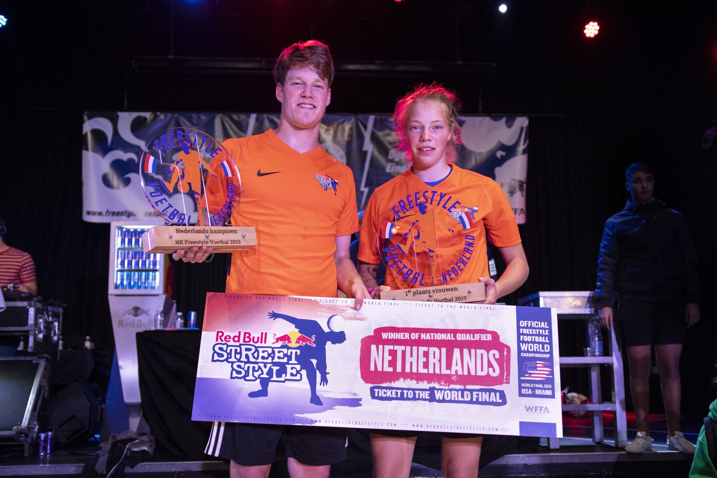 NK Freestyle Voetbal - Winnaar - Jesse MarletWinnares - Laura Dekker