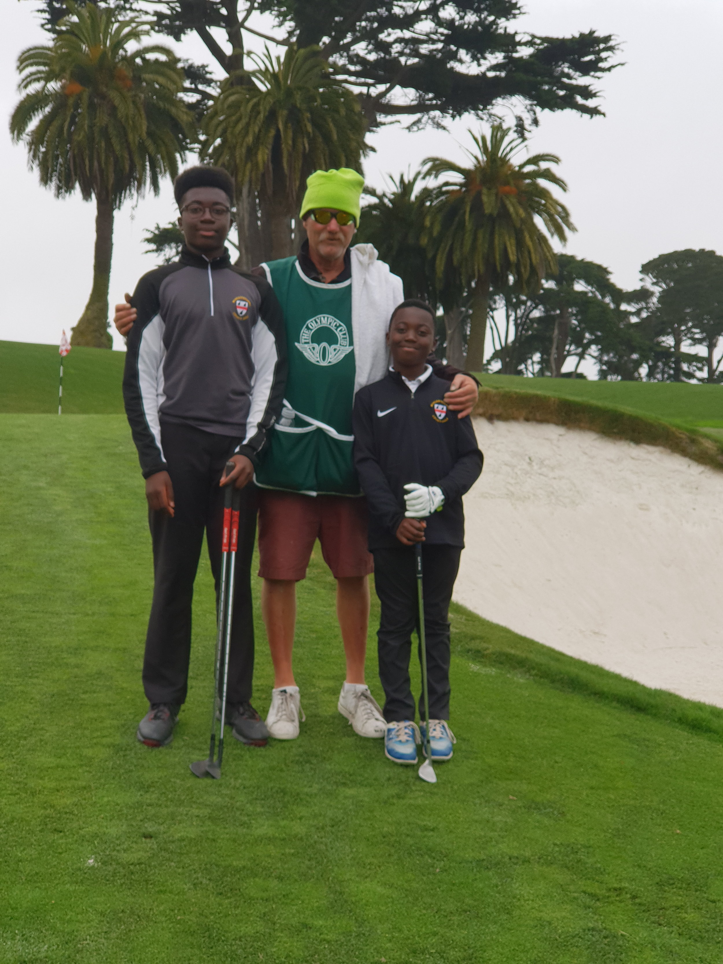 2018 Thank you to caddie Danny for a great round of 18 holes at 'The Olympic Club' Lake Course