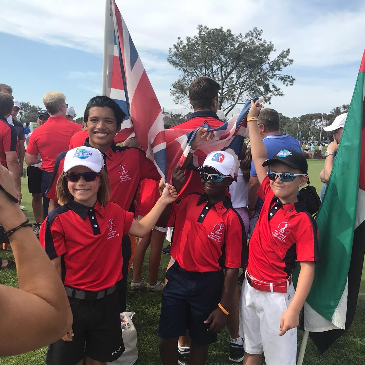 2018 BJGT team representing the UK at IMG Academy Junior World Championships