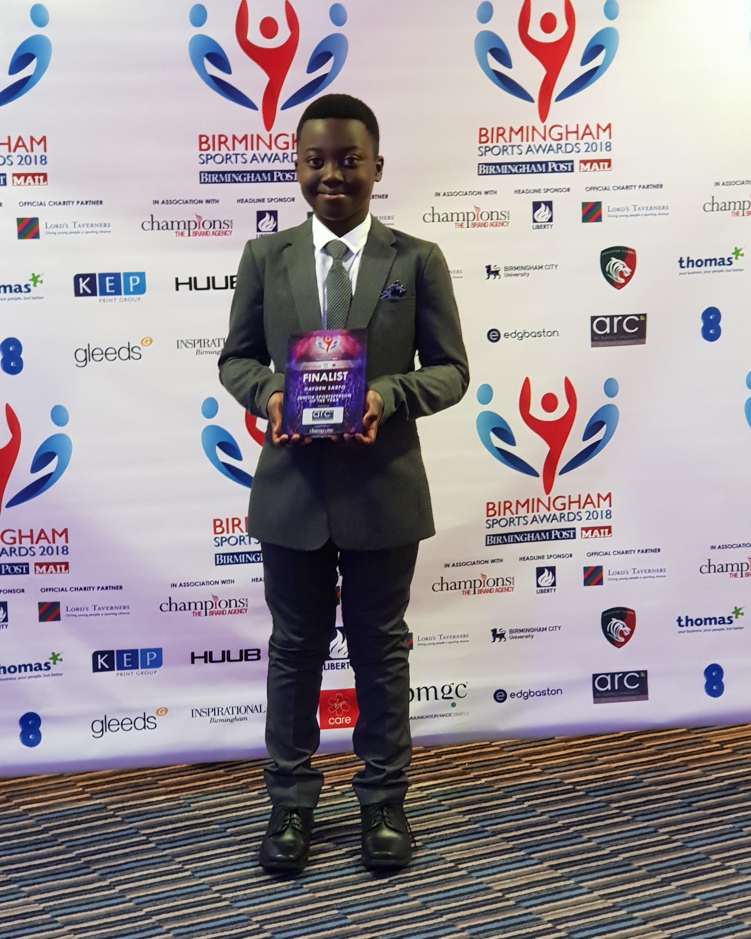 2018 Finalist Junior Sportsperson of the Year