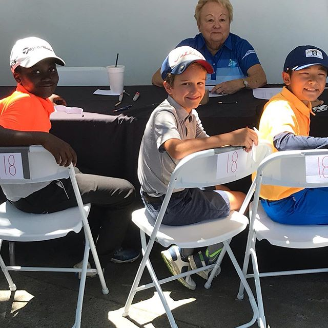 Day 1, Tee off with playing partners Chase from Honolulu & Bradley from Memphis @juniorworldgolf @imgacademy #shadowridge_golf_club.  Looking to improve my score tomorrow.  Come on #teamBJGT @britishjuniorgolftour #whyilovegolf #juniorgolf