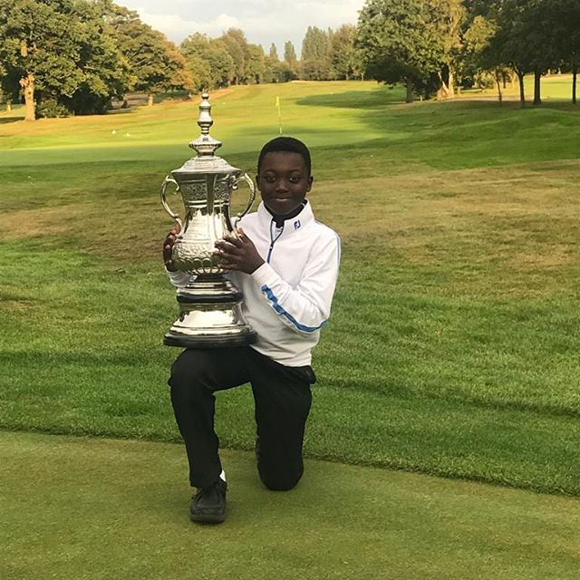 Hayden wins the @moseleygolfclub Junior Open with a gross 75  playing -9 under his handicap, net 61in a field of 40 Junior golfers.  Hayden is also the youngest golfer to win this trophy.  Well done to all players!  @ahgacademy @midlandsgolfer  @futurechampionsgolf #younggolfer #juniorgolfer #juniorgolf
