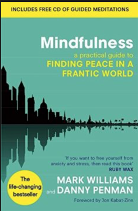 The month before I got ill a sports therapist had given me a book, saying she felt I needed more stillness in my life (!) Now, utterly desperate to find a way to get better I started to do the mindfulness exercises on the CD. -