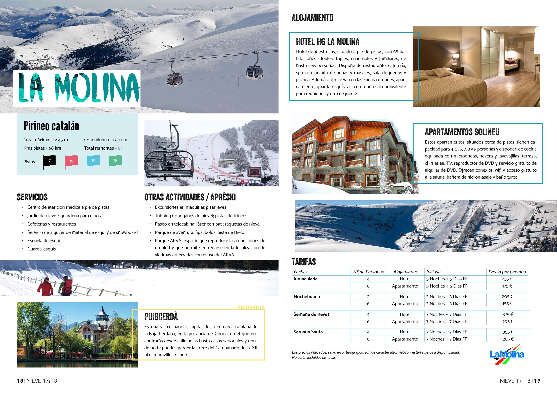 catálogo La Molina