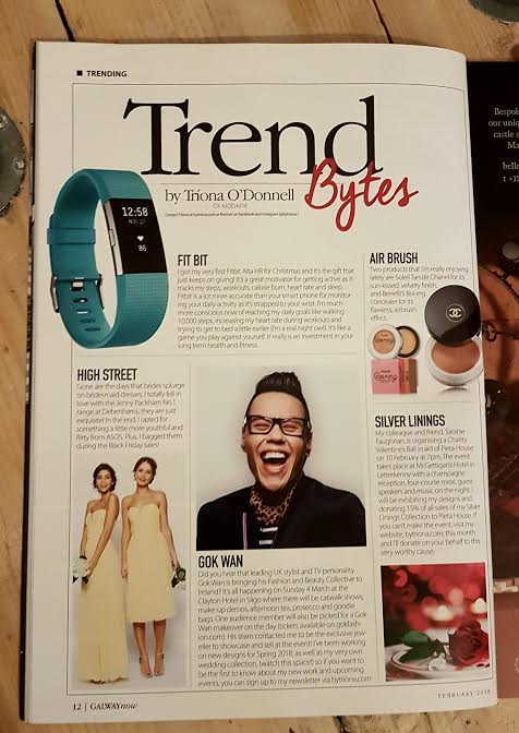 'Trend Bytes', February 2018. Galway Now Magazine.