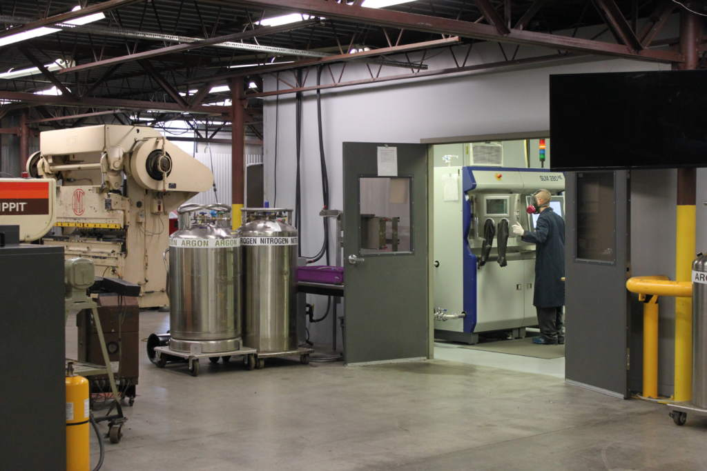 Imperial Machine & Tool Co. Personnel Preparing a Metal 3D-Printer
