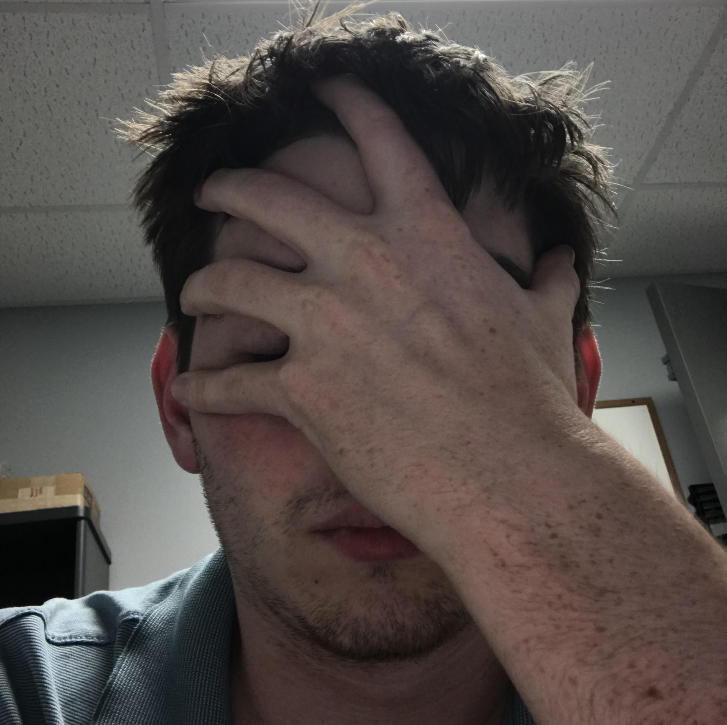 Me watching colleagues argue over part orientation... *face palm*