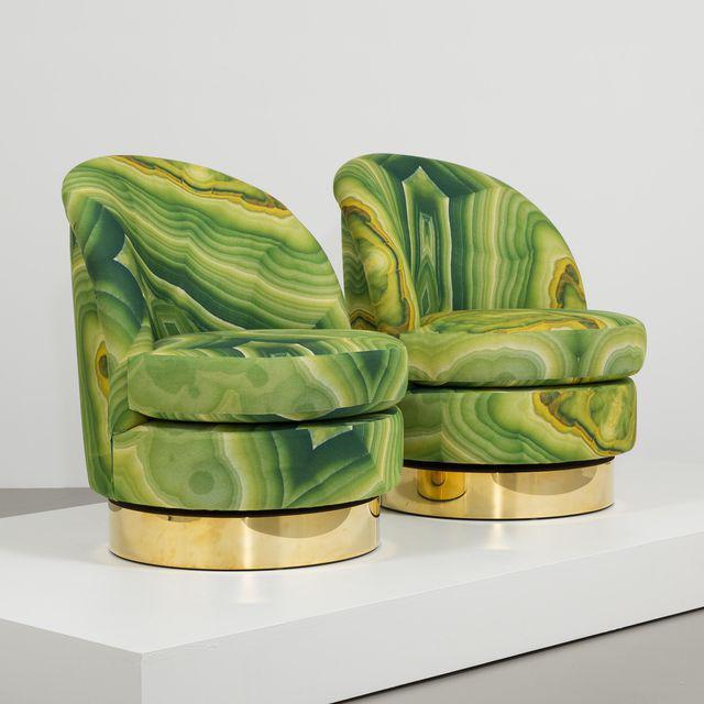 Talisman Chair In Limey Fabric Von Anna Burns