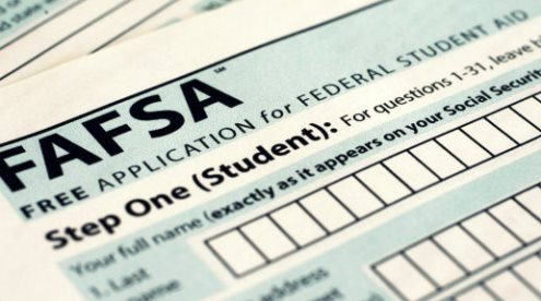 Free application for federal student aid (Fafsa) -