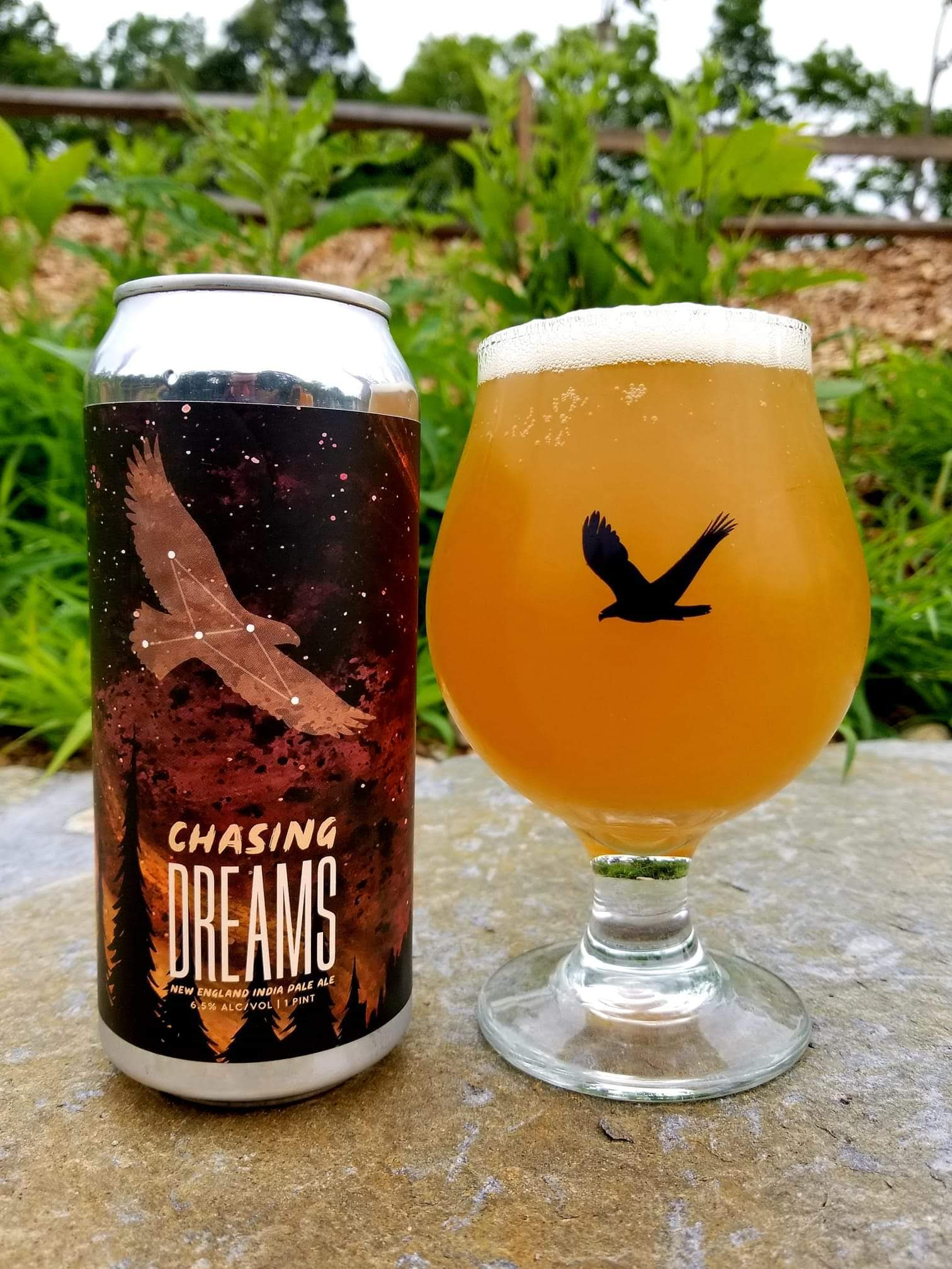 Chasing Dreams - This New England IPA provides a light body which makes it very drinkable. We pick up aromas and flavors of tropical fruits and mandarin oranges.