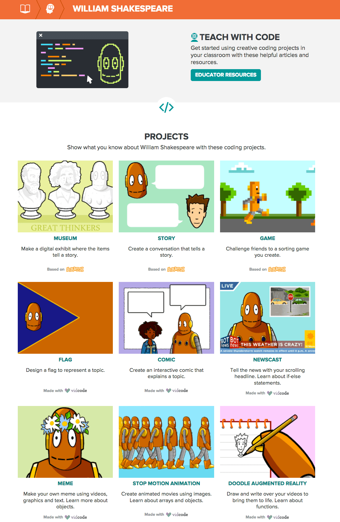 William Shakespeare Creative Coding Projects - BrainPOP.png