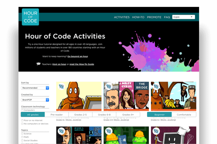 BrainPOP and Hour of Code free topics.png