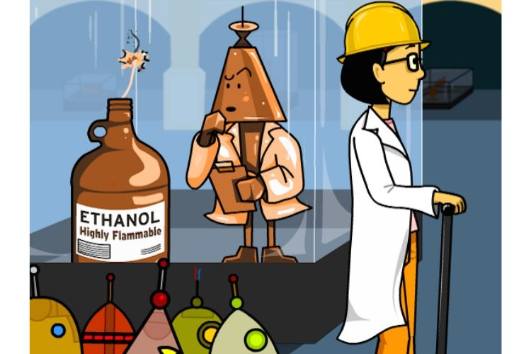 BrainPOP Lab safety - Be careful with chemicals.jpg