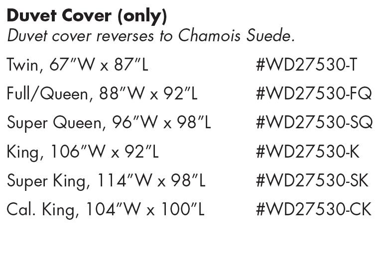 WD27530 Adobe Quarry Duvet Cover