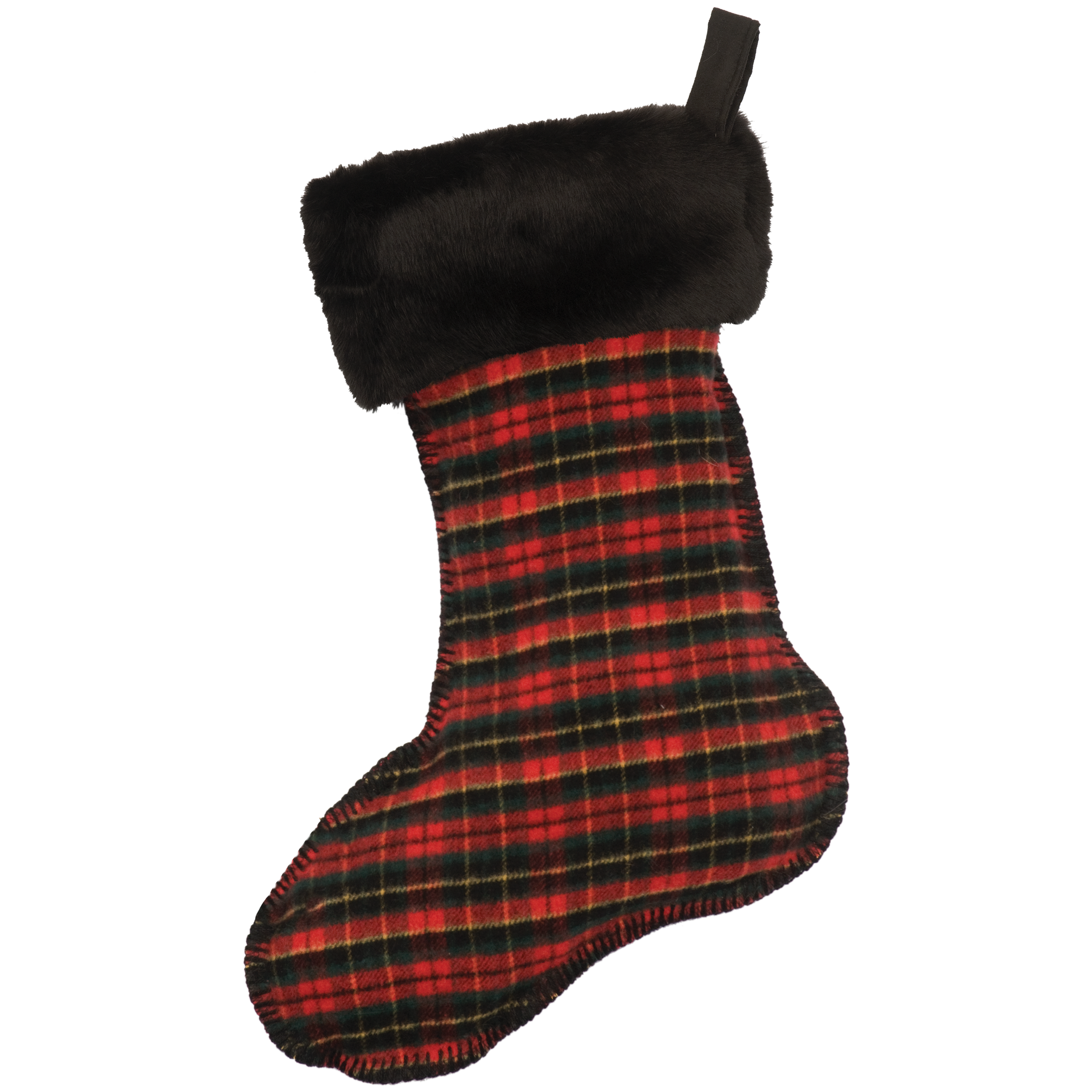 Wooded River Plaid 1 Stocking - 14