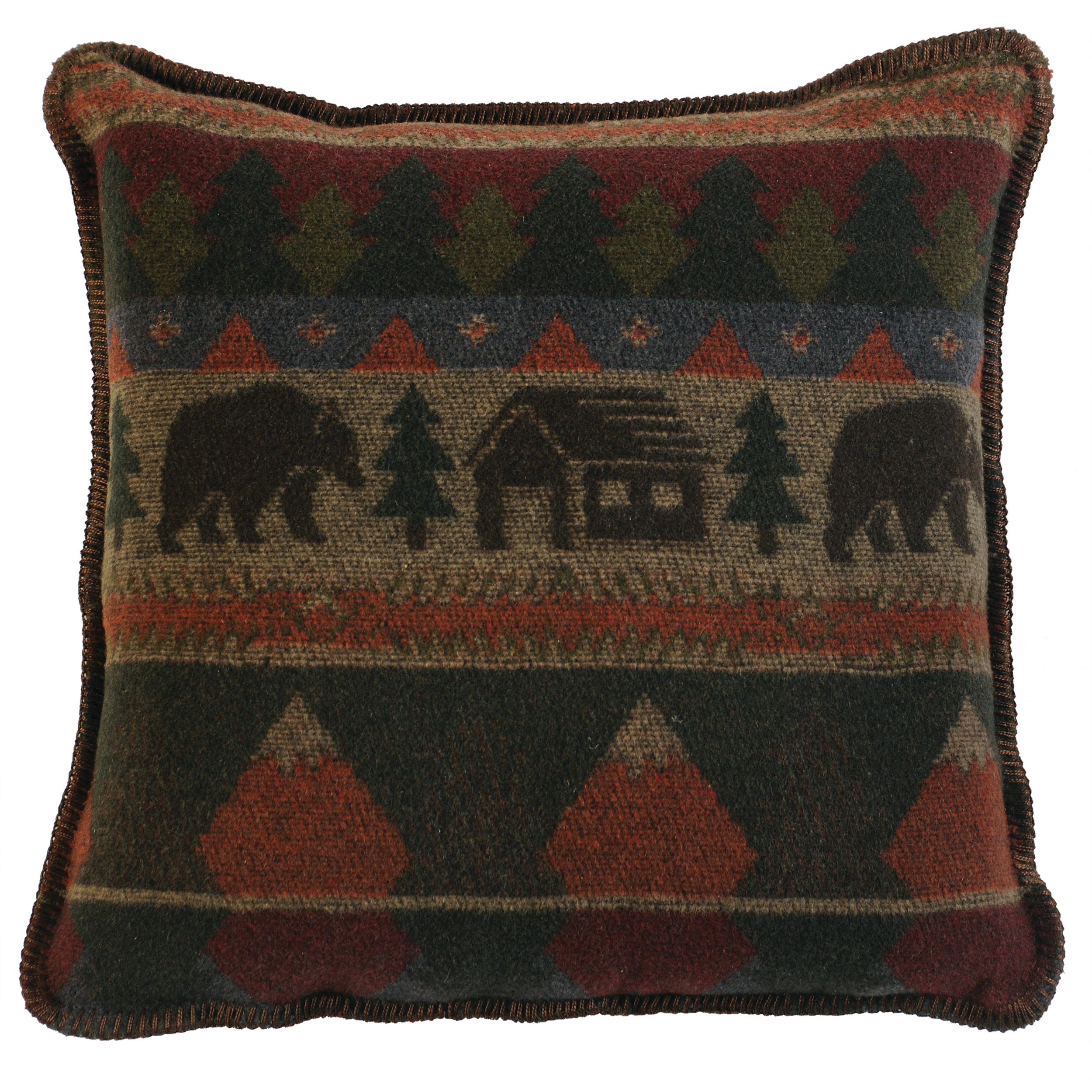 Cabin Bear Pillow - 20