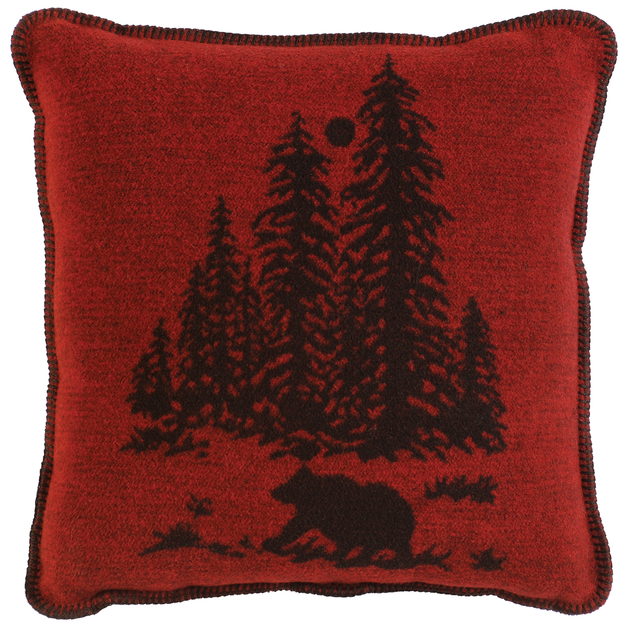 Wooded River Bear Pillow - 20