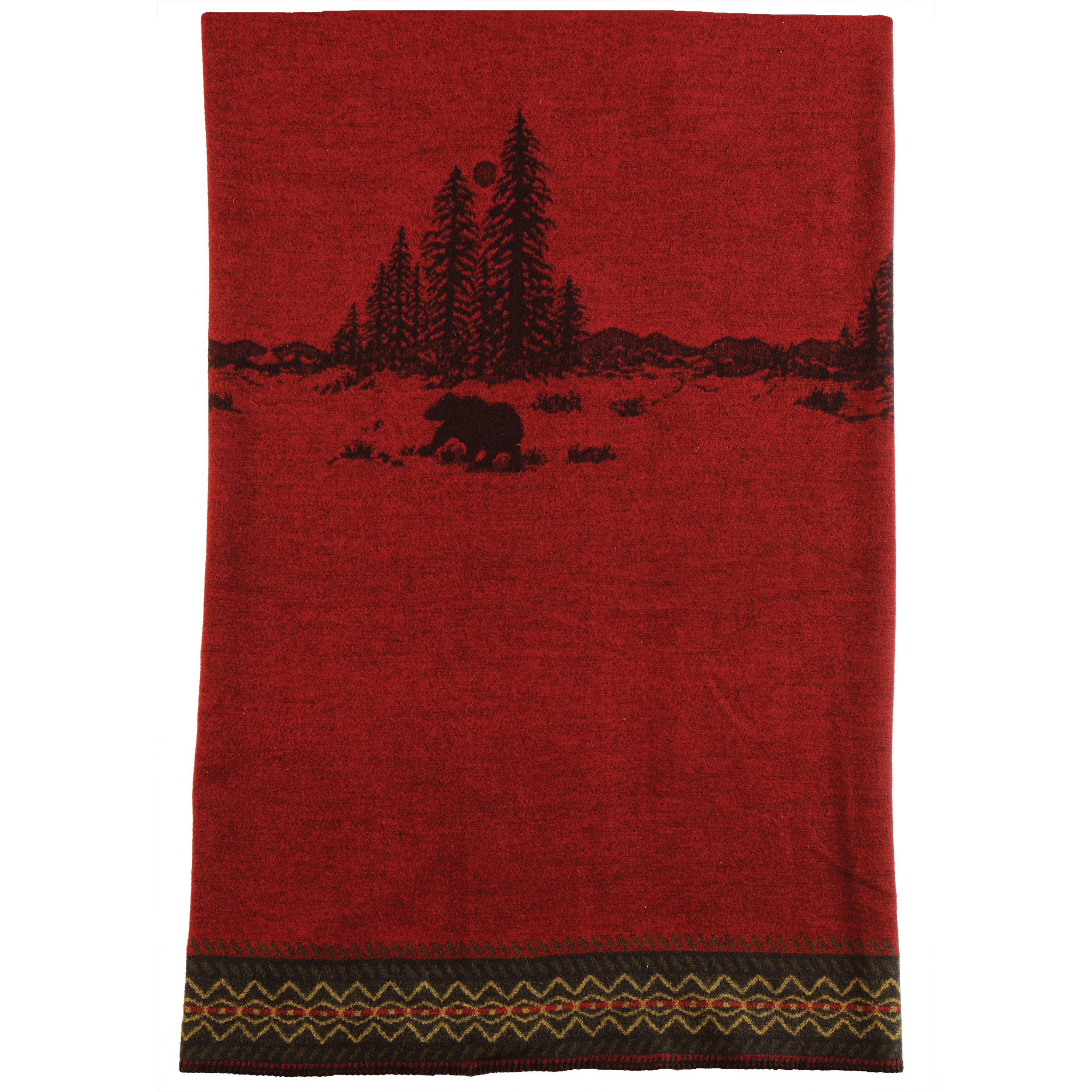 Wooded River Bear Throw - 60