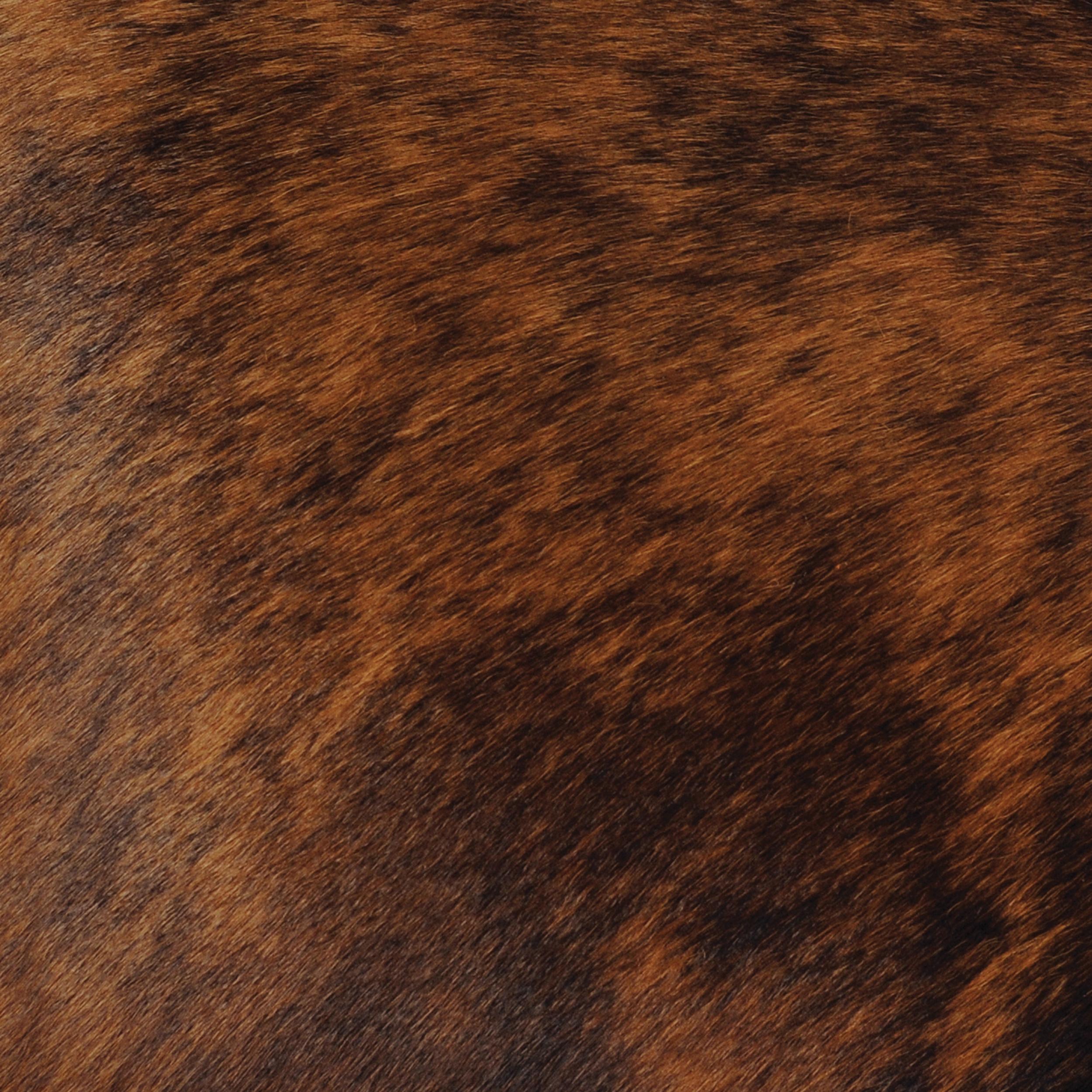 Dark Brindled Hair on Hide Leather