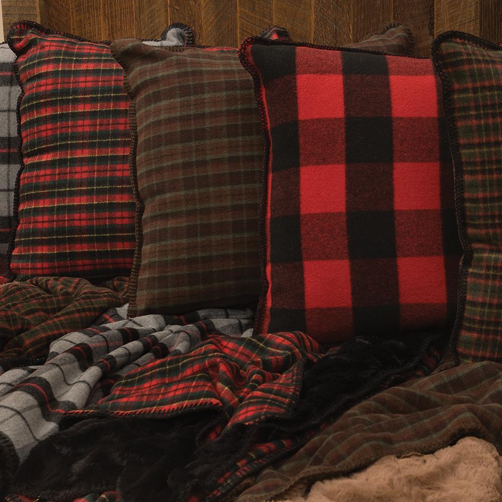 Premier Plaid Throws & Pillows -