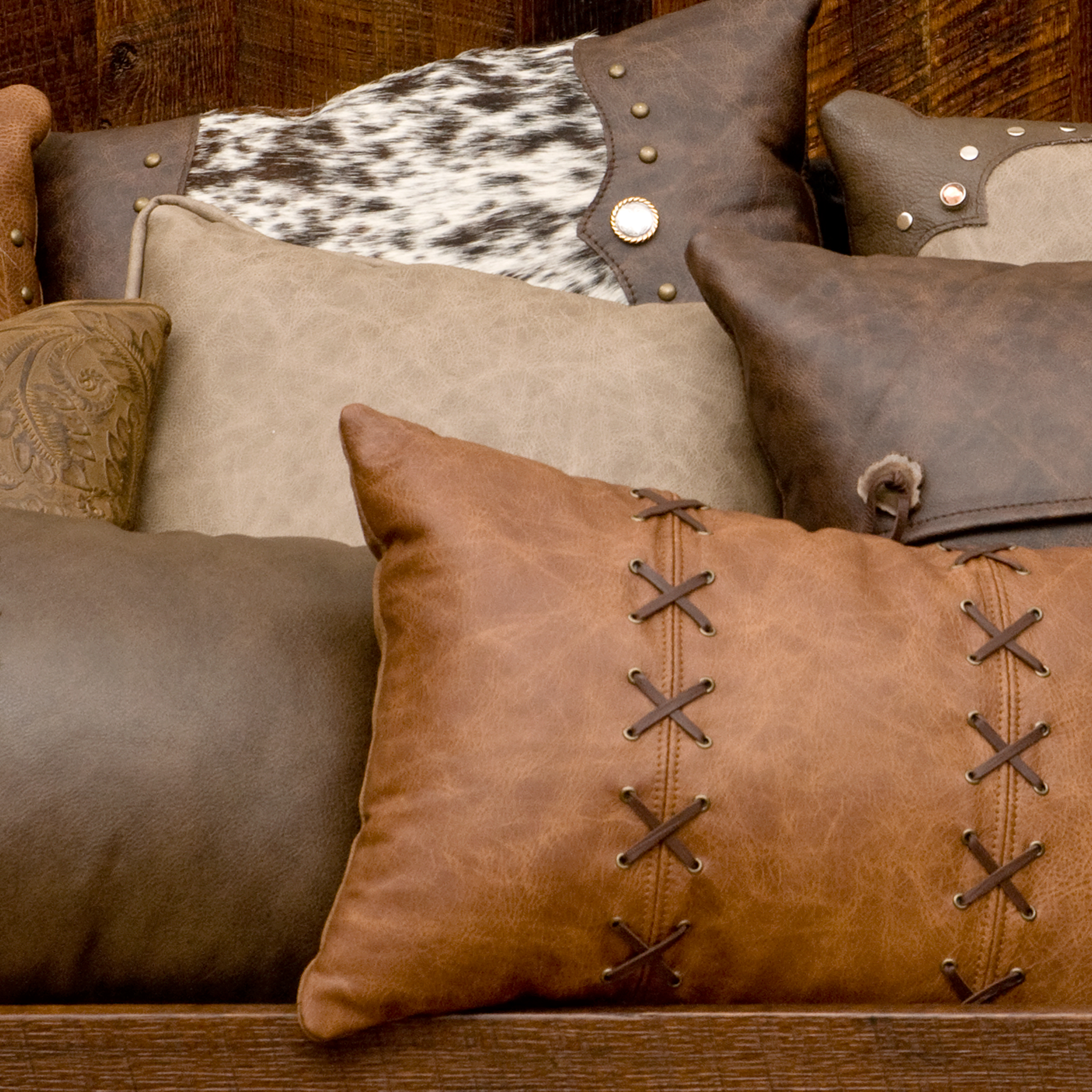 Leather Pillows -