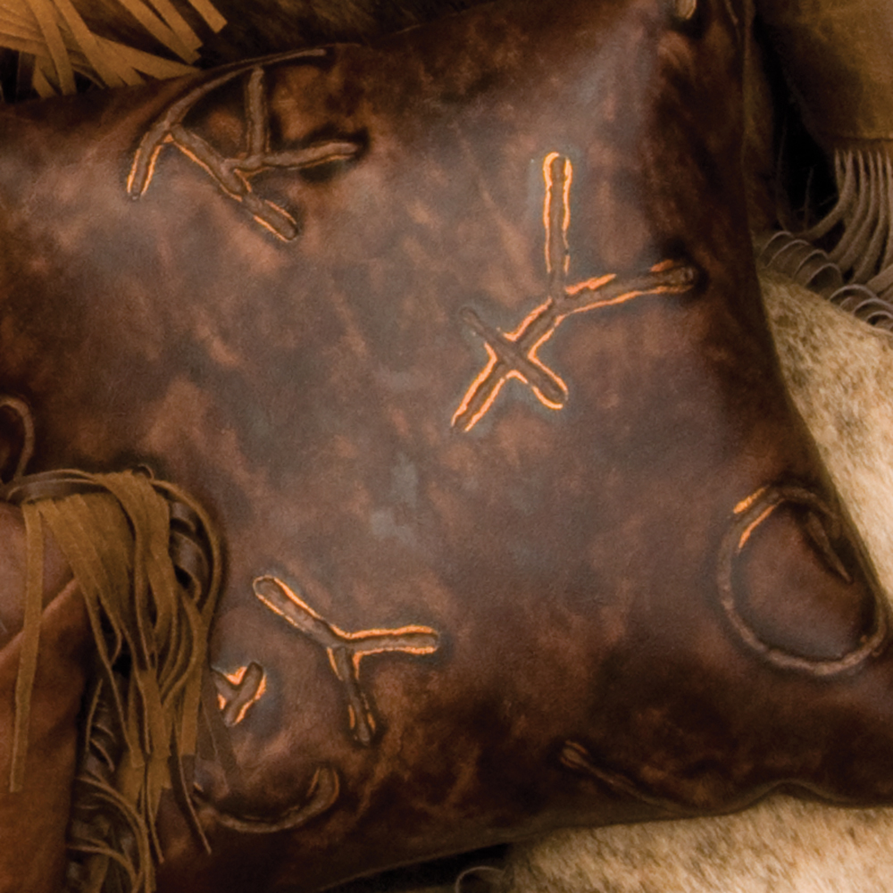 Embossed Leather Pillows -