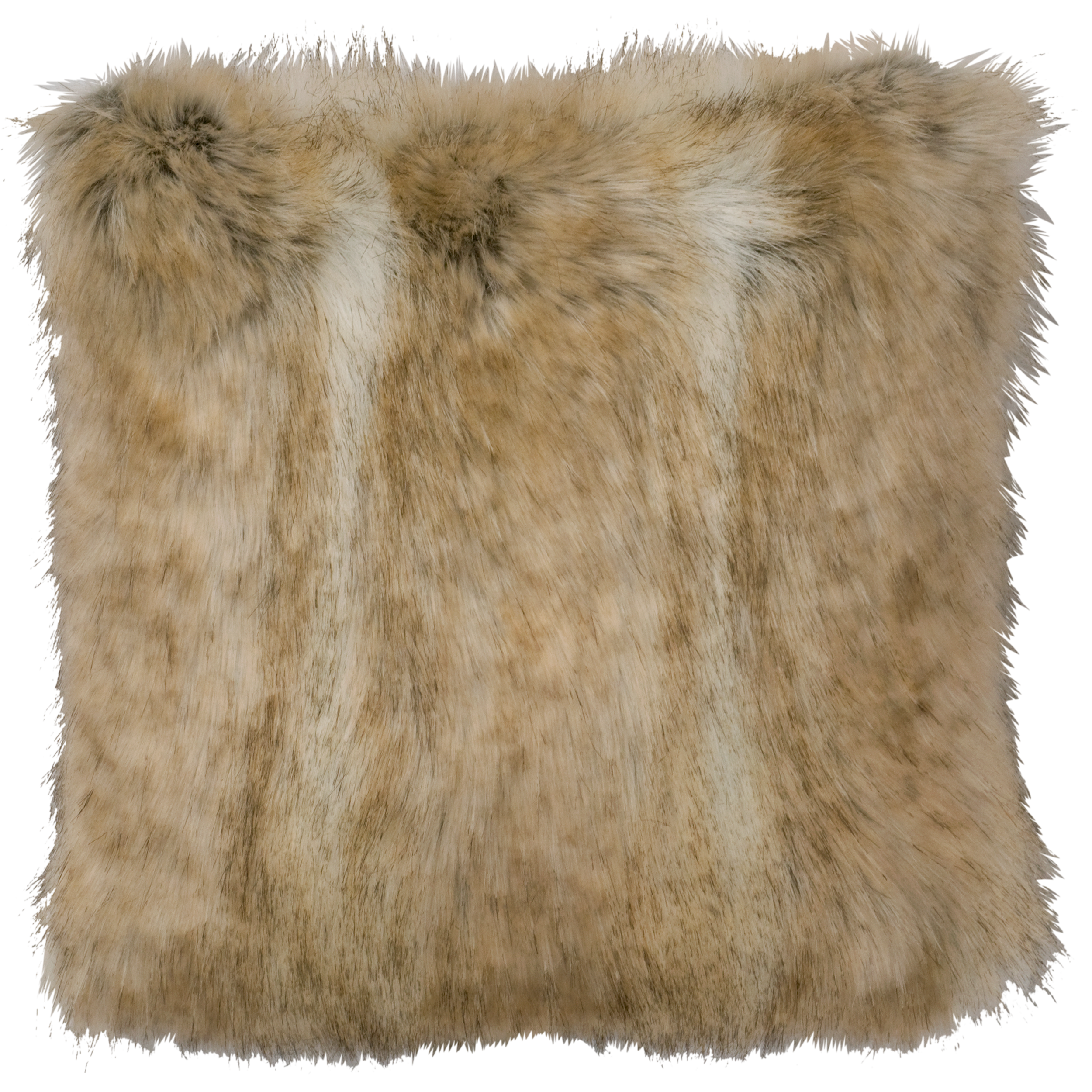 Canadian Stone Fox Faux Fur Pillow - 18