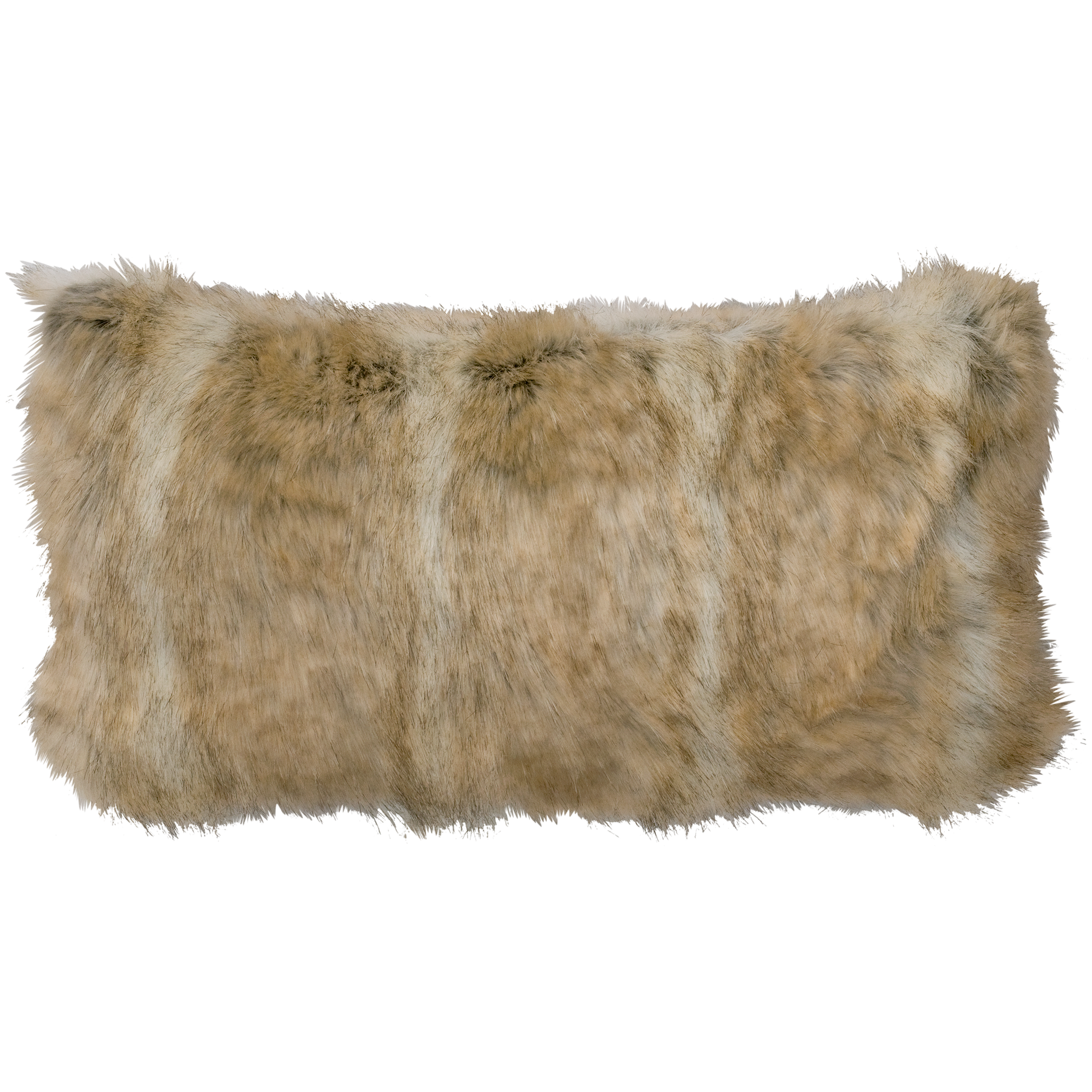 Canadian Stone Fox Faux Fur Pillow - 14