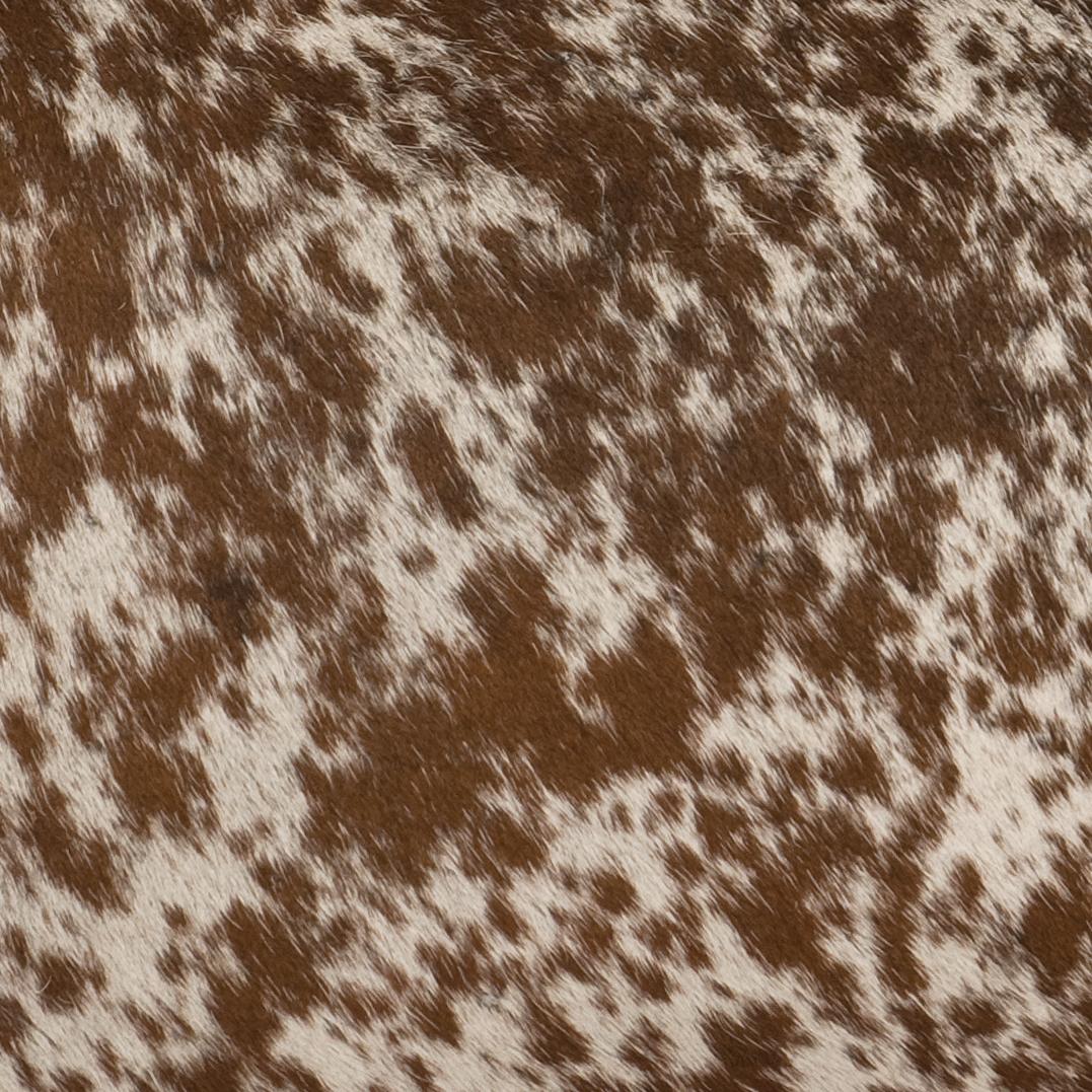 Speckled Dark Brown Hair on Hide Leather