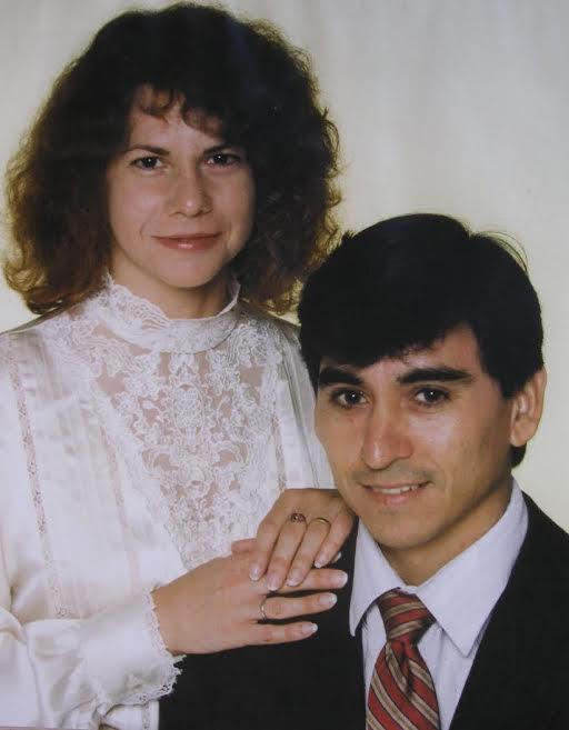 Sixto and Linda Valdez, Wedding Day, 1988