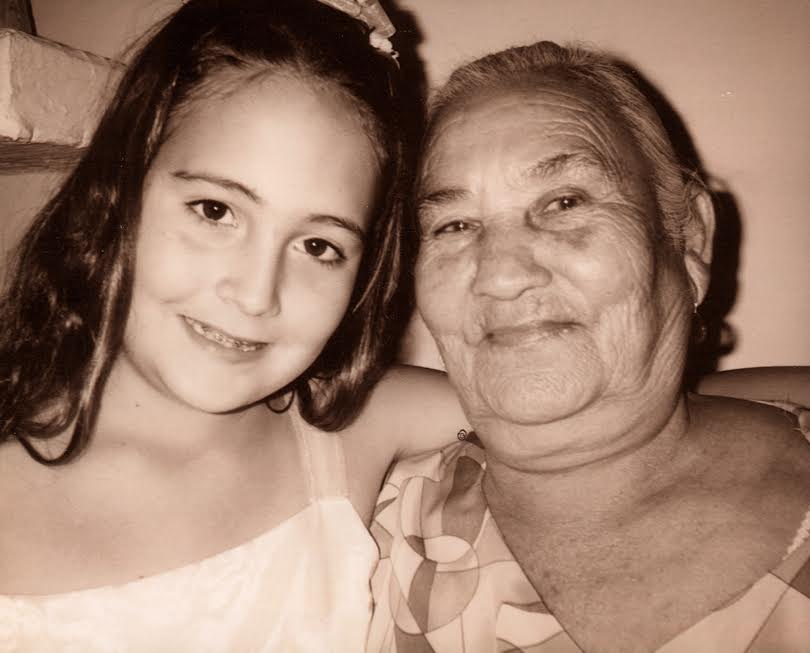 Lucy and her paternal grandmother in Mexico at her cousin's Quinceañera