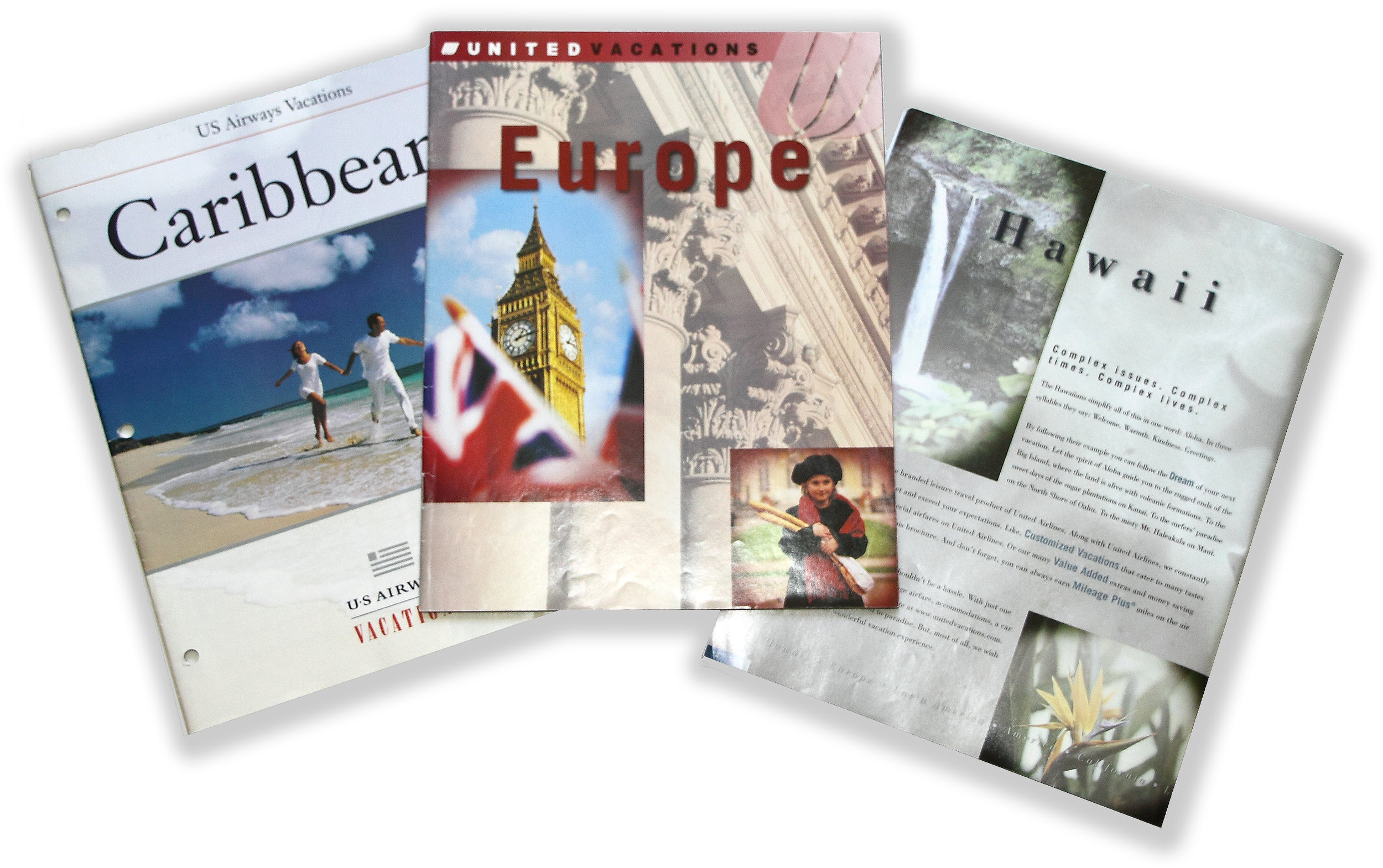 USAIRWAYS VACATIONS + UNITED VACATIONS Award-winning art direction, design and photo selection led to a series of award-winning travel catalogs that included multiple world-wide destinations.