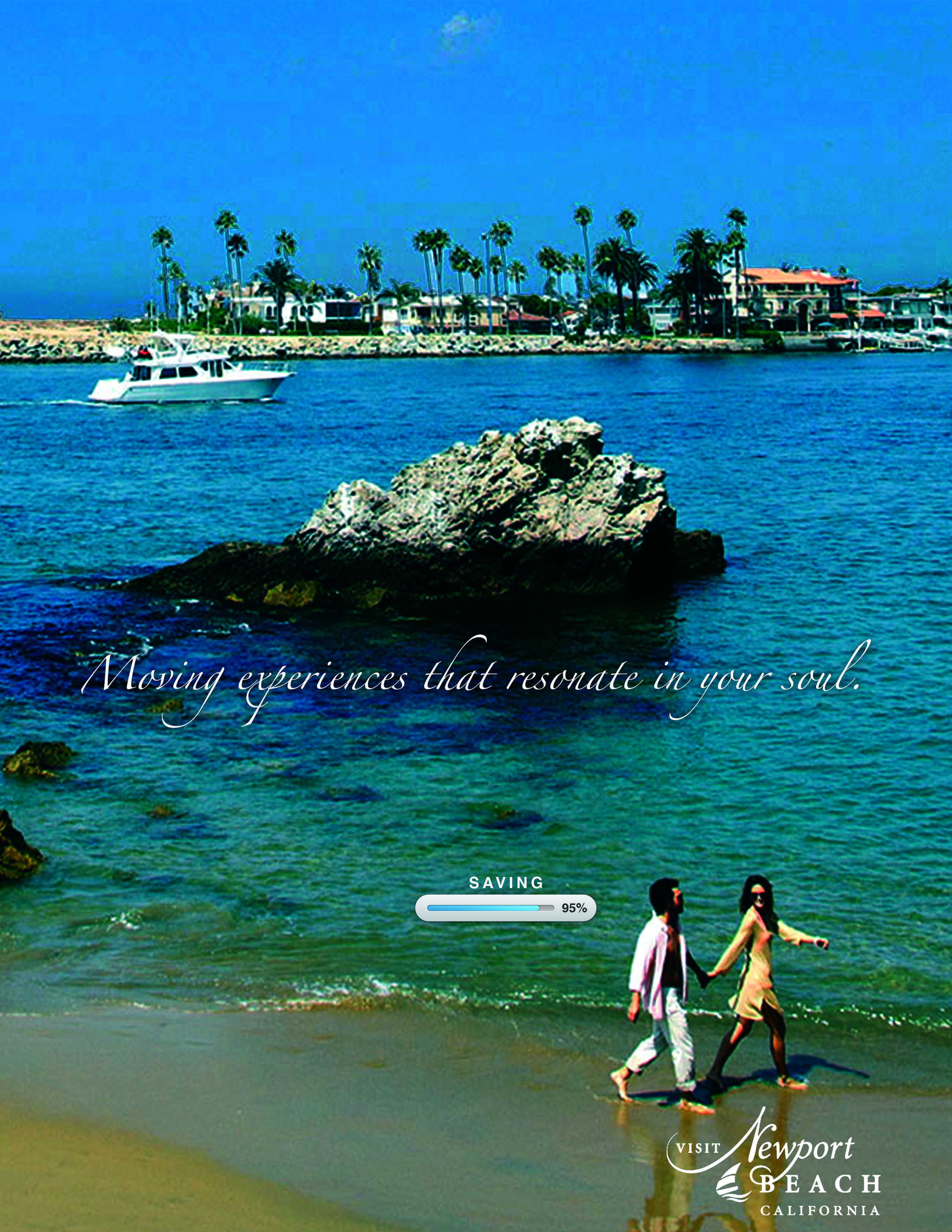 VISIT NEWPORT BEACH  Ad layouts for tourism campaign.