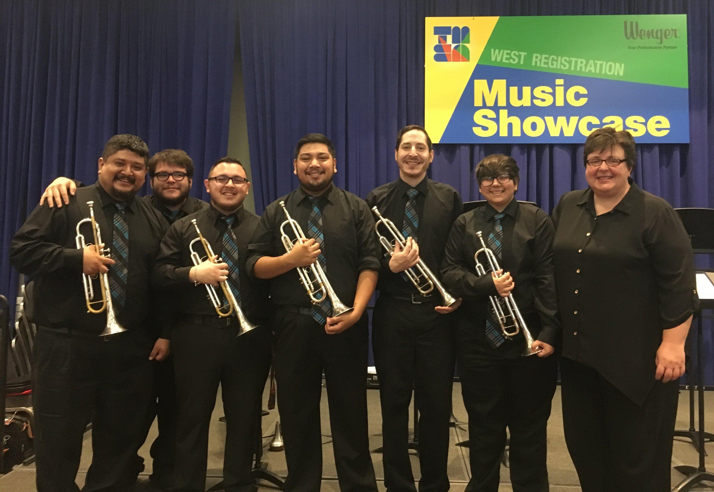 TAMUCC Trumpet Ensemble at TMEA 2017