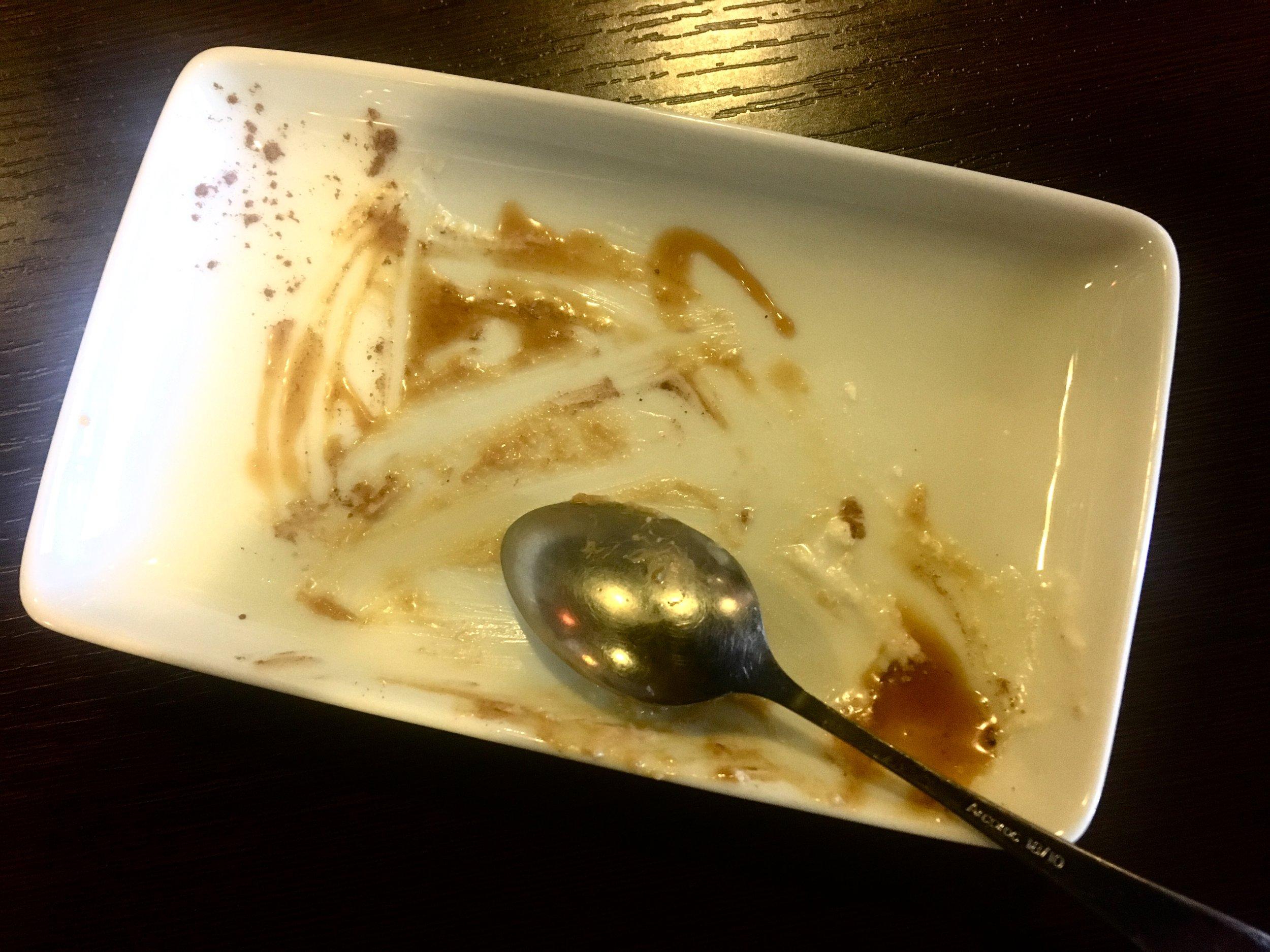 Empty dessert plate.