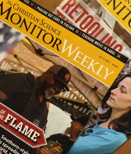 Christian Science Monitor is published weekly in print or electronically