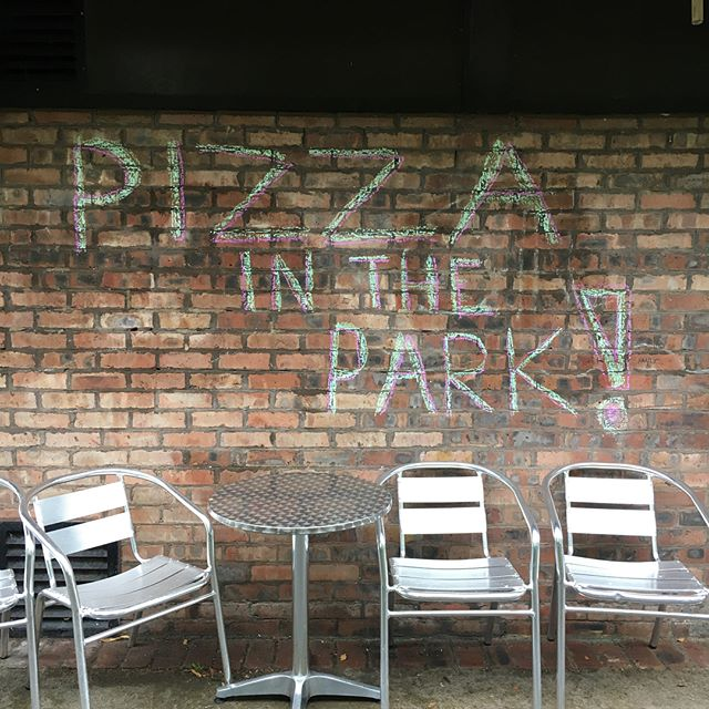 Oh yeah, we made #PizzainthePark today, even with it pouring down! And our customers who made it to us, you're awesome! As one of our little customers said 'it's just water' ☔️ Great feedback too - cherry on top! Thank to all our fab volunteers including Donna, Amanda and @julietfleming Next one - Friday 10th Aug. See you there!