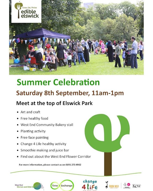 Hello! How's the summer going so far for you? We hope it's been a fun one! We want to invite you along our Summer Celebration happening on Saturday 8th September in #ElswickPark Something to look forward to after the first week back at school! Help us spread the word. #EESummerCelebration #comingsoon #whatsonwestend #elswick