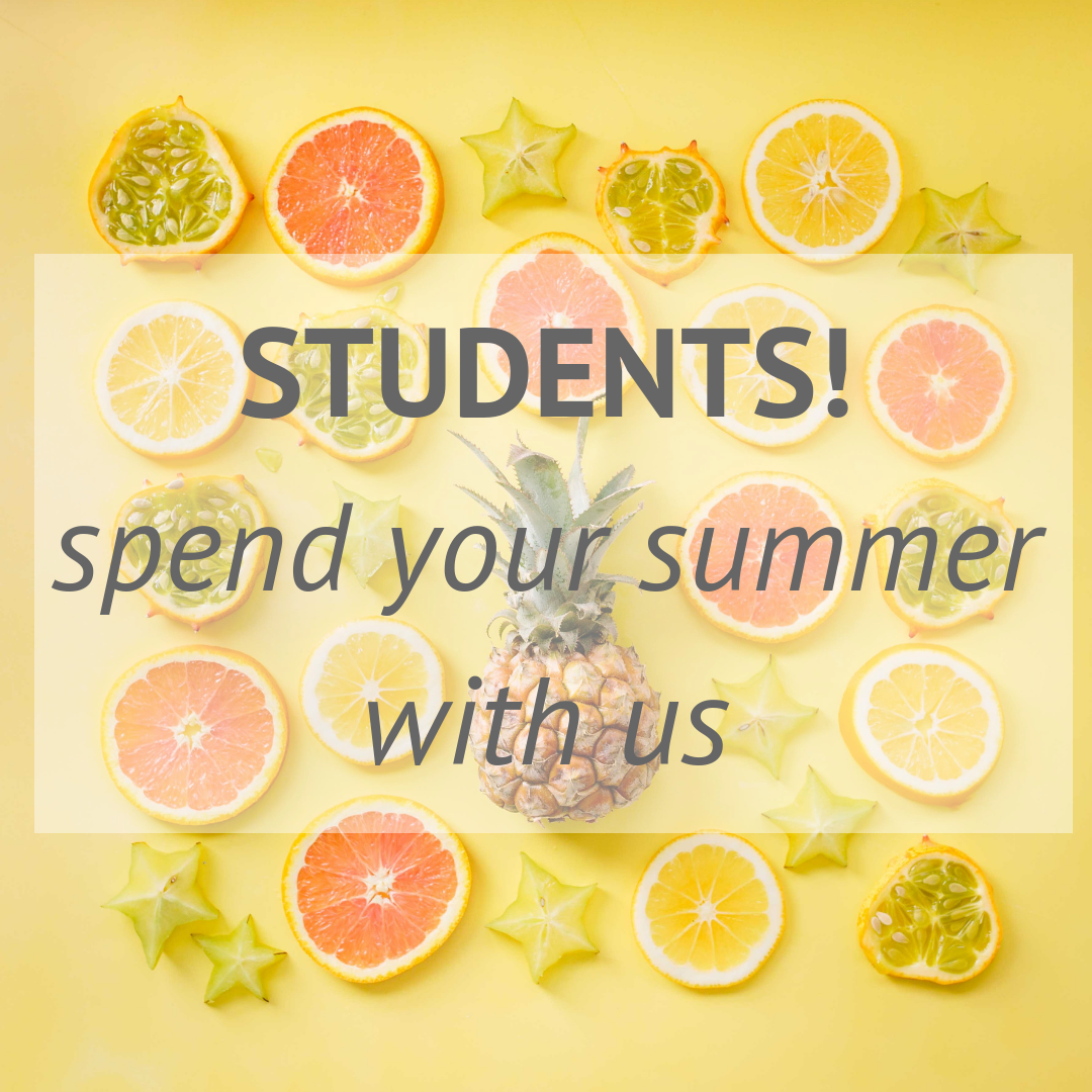 STUDENTS!spend your summer with us.png