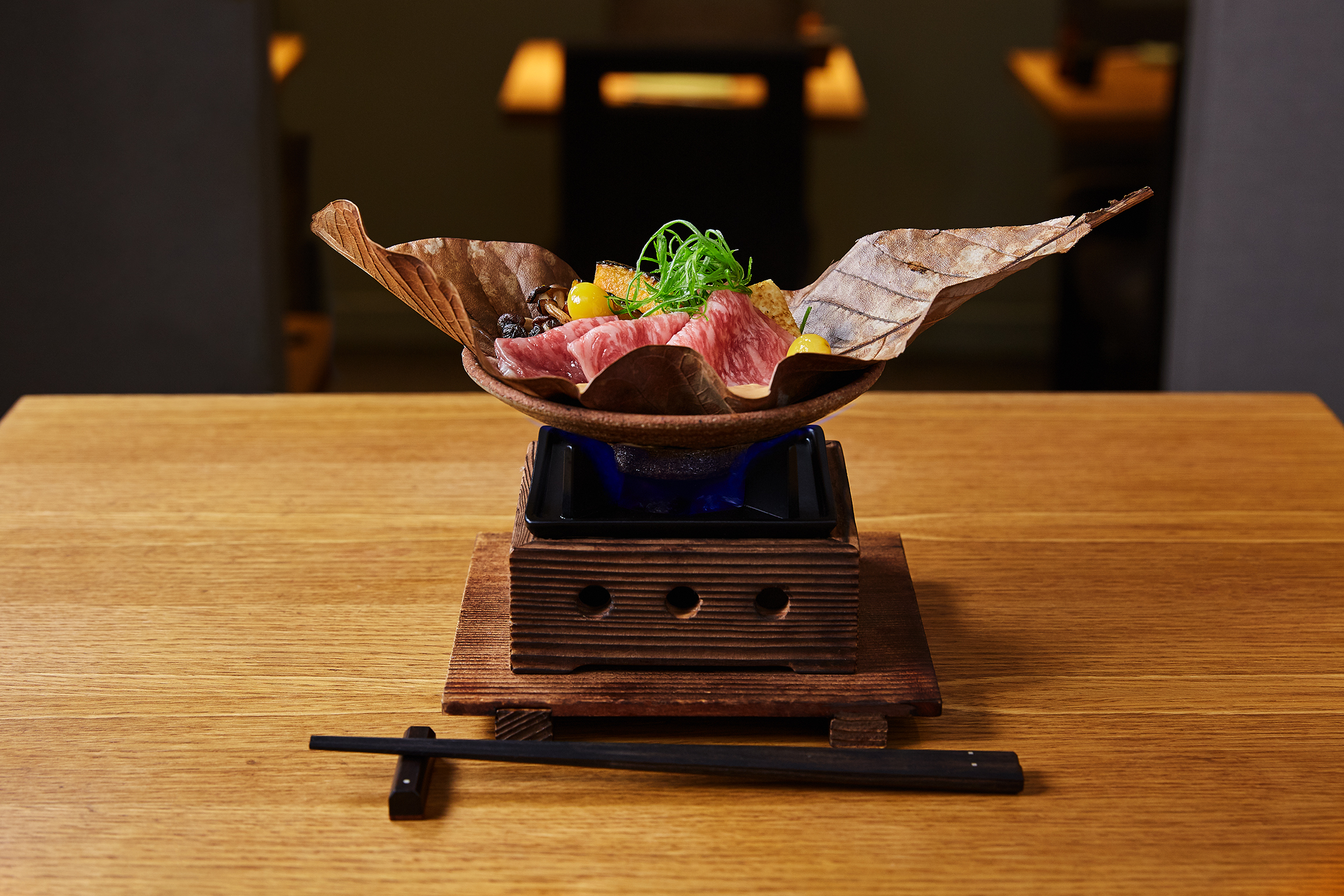 This image is from a recent shoot for an up-market, Japanese restaurant started by the owner's late father 40 years ago. It has fantastic food and has recently been fully refurbished. We were invited to help them show their new look to the world.