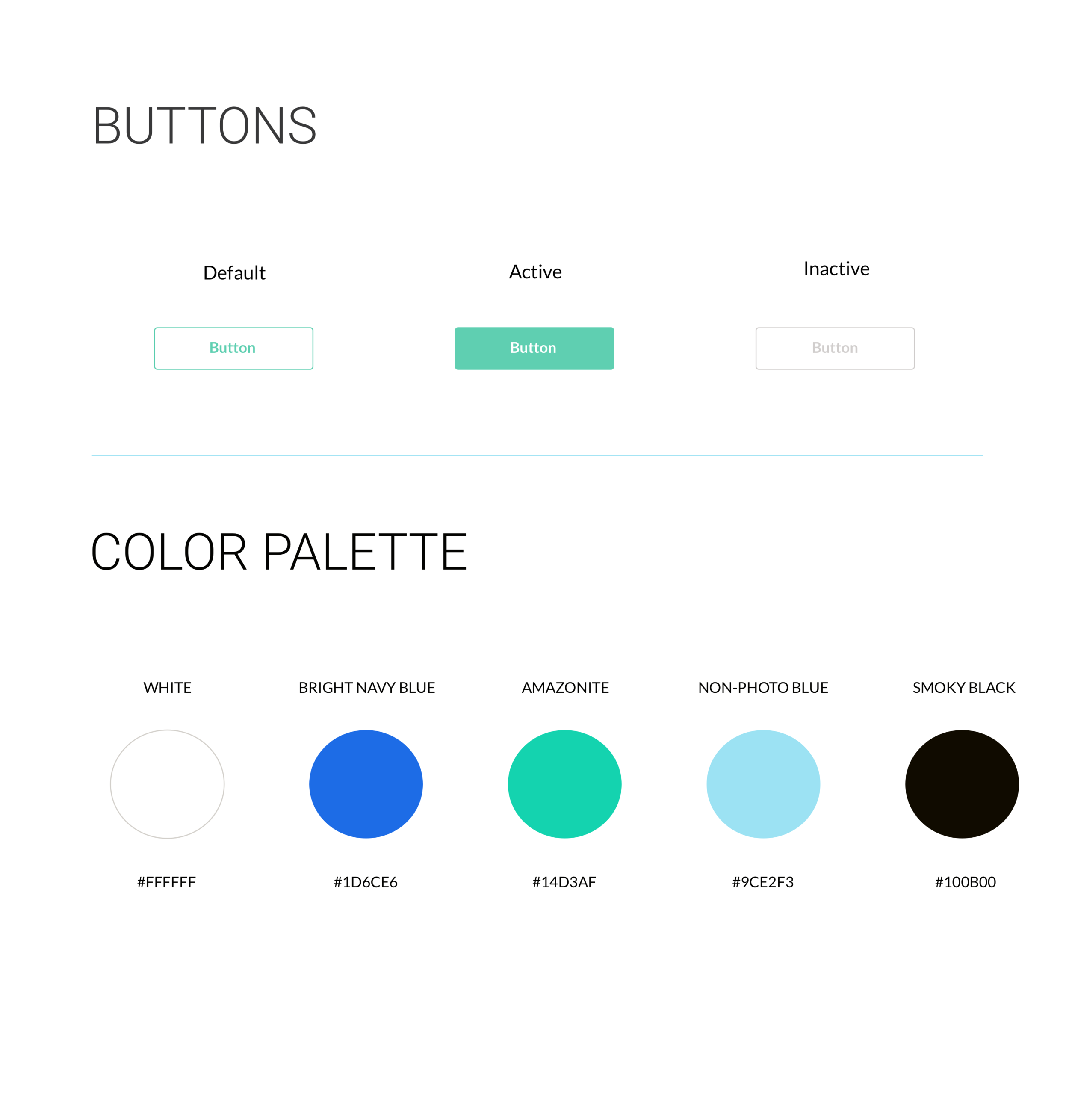 buttons and color palette