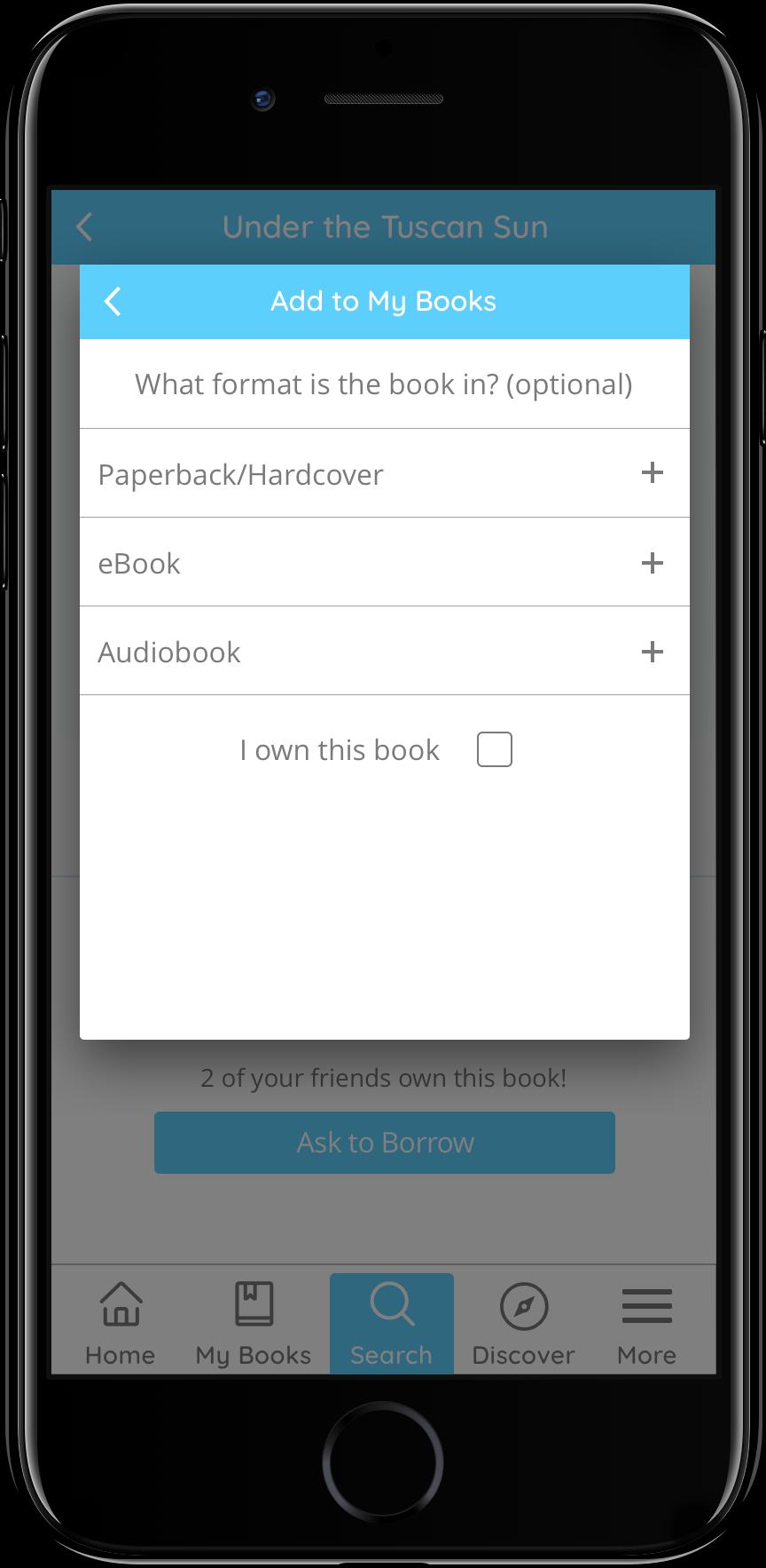 Add a Book (Book Type)
