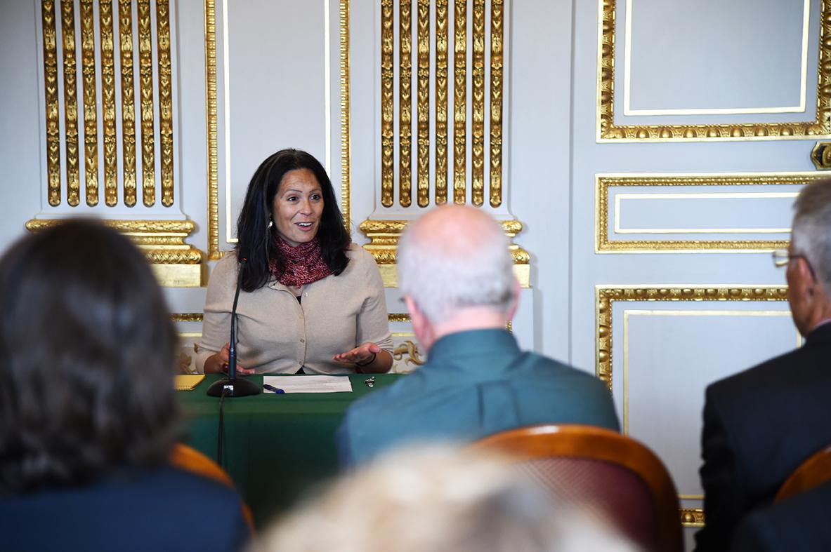 At the George Marshall Center/Hôtel de Talleyrand, Paris.  Photo: Chantal Mistral-Bernard.