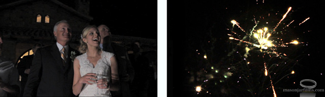 Reception fireworks at Escondido from Austin Wedding Video