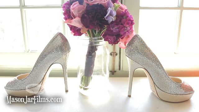 Jimmy Choo shoes screen grab from Austin Wedding Video