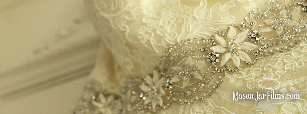country outdoor wedding pic 09 lace wedding dress beaded belt detail